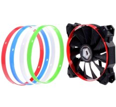 CST SF12025 ID-Cooling 12CM Cabinet Fan With 4 Interchangeable Color Rings (Red)