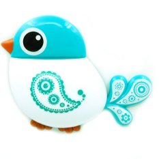 Cute Bird Shaped Plastic Wall Mount Toothbrush Holder Tooth Brush Makeup Brush Hair Comb Shaver Stand Tableware Display Home Bathroom Accessories Organizer Blue (Intl)