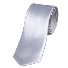 Cyber Mens Casual Slim Plain Mens Solid Skinny Neck Party Wedding Tie Necktie (Silver) (Intl)