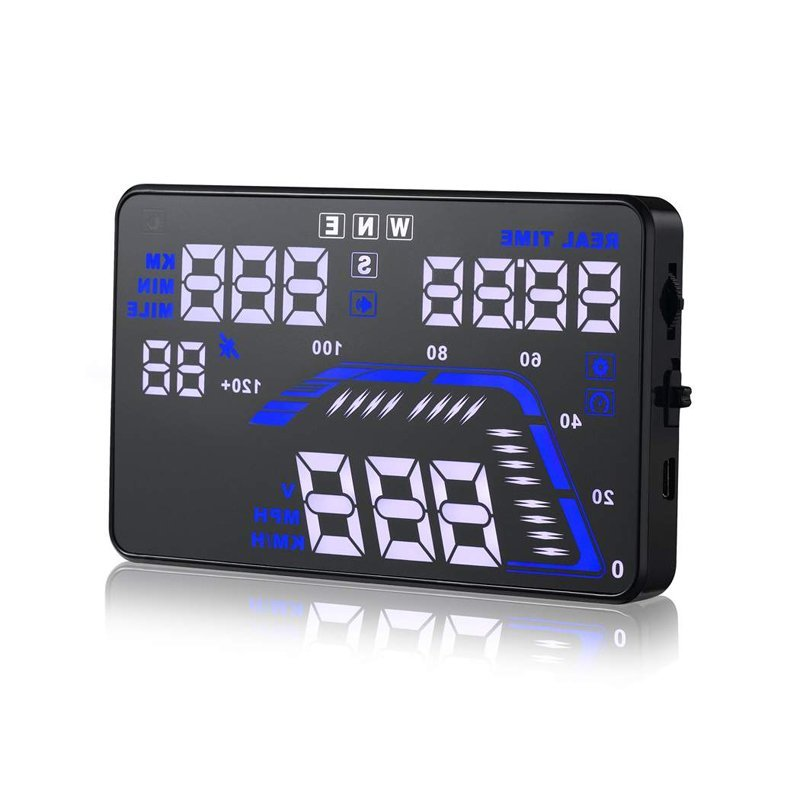 Cyber Universal Car Safe Driving HUD Head Up Display Overspeed Warning System OBDII Car Accessories ( Black )