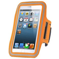 Cycling Running Mobile Sport Adjustable Strap Arm Band Case Cover For IPhone 6 6S (Orange) (Intl)