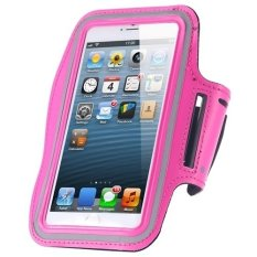 Cycling Running Mobile Sport Adjustable Strap Arm Band Case Cover For IPhone 6 6S (Pink) (Intl)