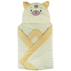 Darby Selimut Bayi Motif Cat Square - Kuning