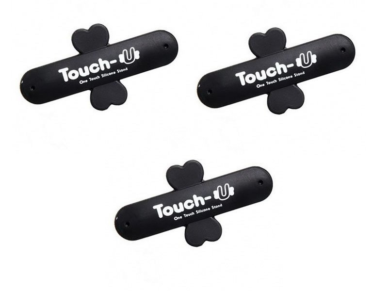 Dbest Touch U One Touch Standing Handphone - 3 Pcs - Hitam