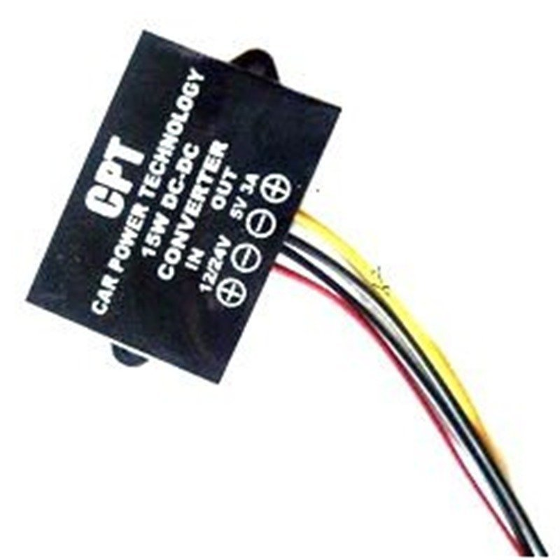 DC 12V 24V to 5V 3A 15W Converter Step Down Regulator Car LED Power Supply(DCCON-C3) (Intl)