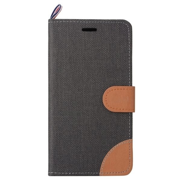 Denim Texture Horizontal Flip Leather Case with Card Slots & Holder for Lenovo P70 (Black) (Intl)