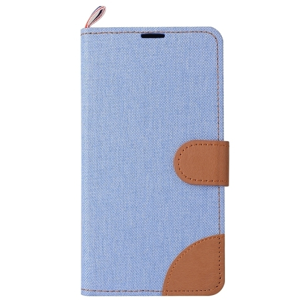 Denim Texture Horizontal Flip Leather Case with Card Slots & Holder for Meizu M2 (Blue) (Intl)