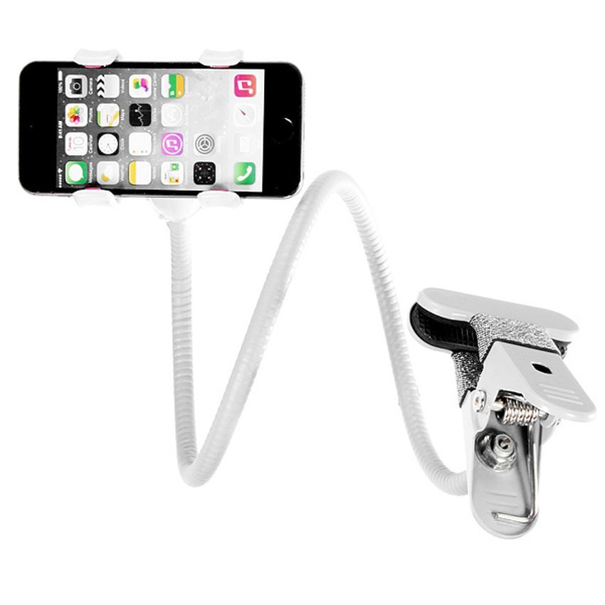 DHS. 360 Universal Lazy Bed Desktop Car Stand Mount Holder for Cell Phone iPhone GPS White (Intl)