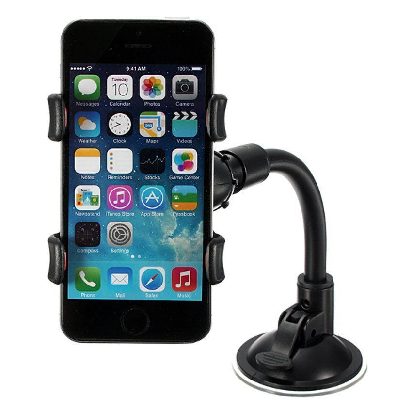 DHS 360° Adjustable Windshield Mount Bracket Car Holder for iPhone 6 plus 5s 5 4s (Intl)