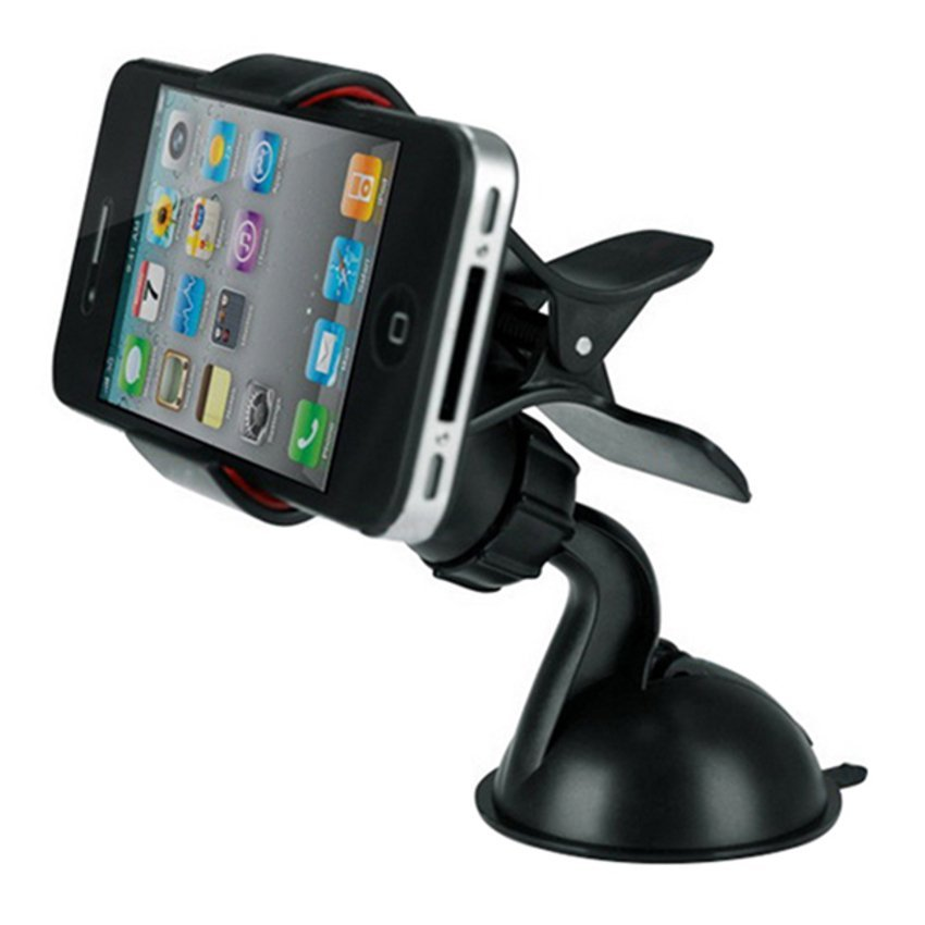 DHS 360° Car Windshield Mount Stand Holder for Phone (Black) (Intl)