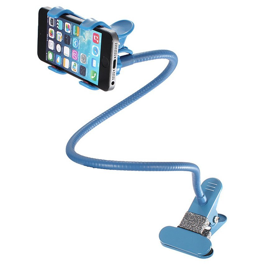 DHS 360xUniversal Lazy Bed Desktop Car Stand Mount Holder for Cell Phone iPhone GPS Blue (Intl)