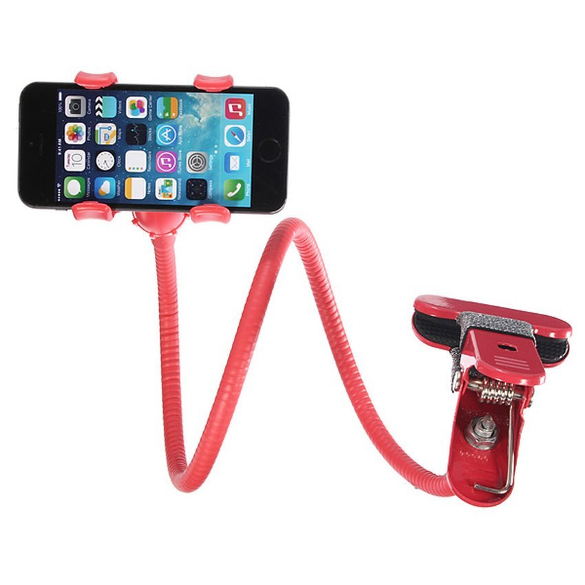 DHS 360xUniversal Lazy Bed Desktop Car Stand Mount Holder for Cell Phone iPhone GPS Red (Intl)