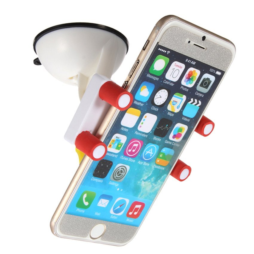 DHS Universal 360° Car Windscreen Dashboard Mobile Phone Holder Mount For iPhone 6 5 (White) (Intl)