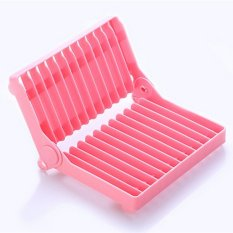 Dish Drainer Rack Organizer Drying Shelf Foldable Shelf Kitchen Storage Plate Holder
