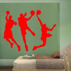DIY Basketball Player Wall Sticker Removable Home Art Decor Waterproof Wall Decal PVC Mural-Red80*135cm (Intl)