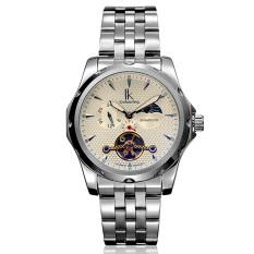 Dmscs IK Apa Qi Multi-functional Automatic Mechanical Watch Male Watch Tourbillon Watches 98527G Symphony Leisure (White)