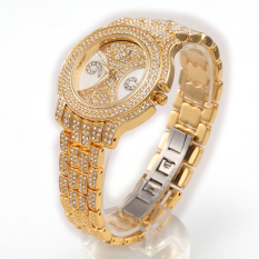 Dmscs When HEMNEZ Authentic Korean Fashionable Hanmei Diamond Watch Fashion Jewelry Watches (Gold)