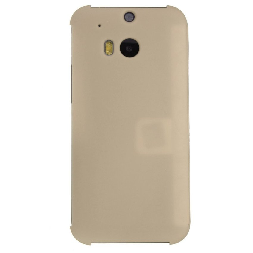 Dot View Flip Cover for HTC One M8 (Gold) (Intl)