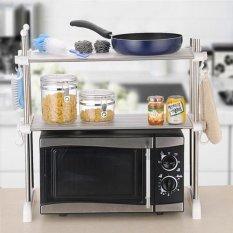 Double Celebration Stainless Steel Double Bath Kitchen Rack Microwave Oven Racks (1959)