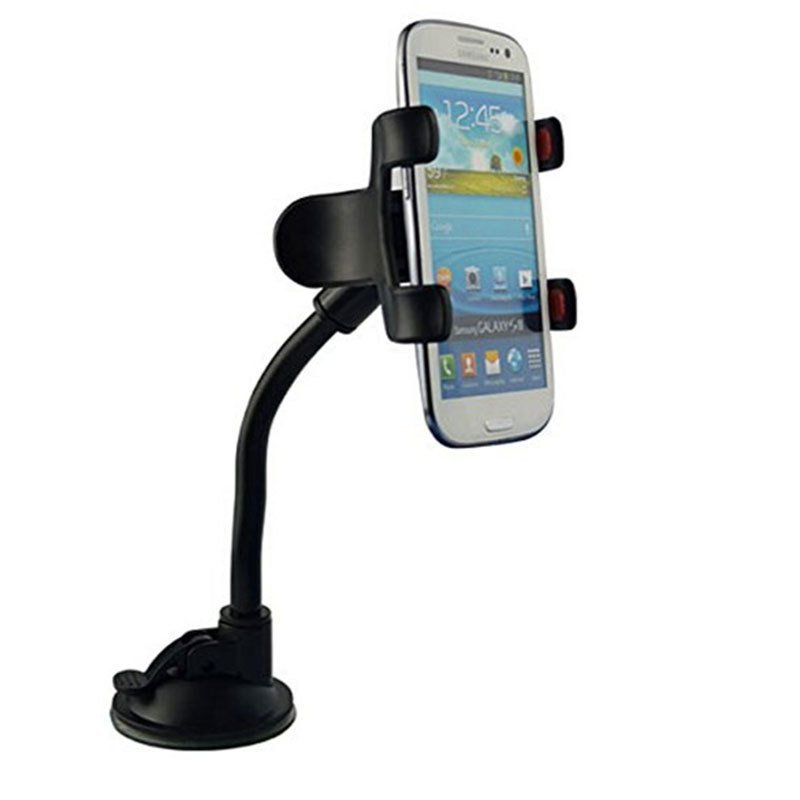 Double Clip Car Phone Holder Cradle for Huawei P8/P8 Lite Cell Phone Stand Universal (Black)(INTL)