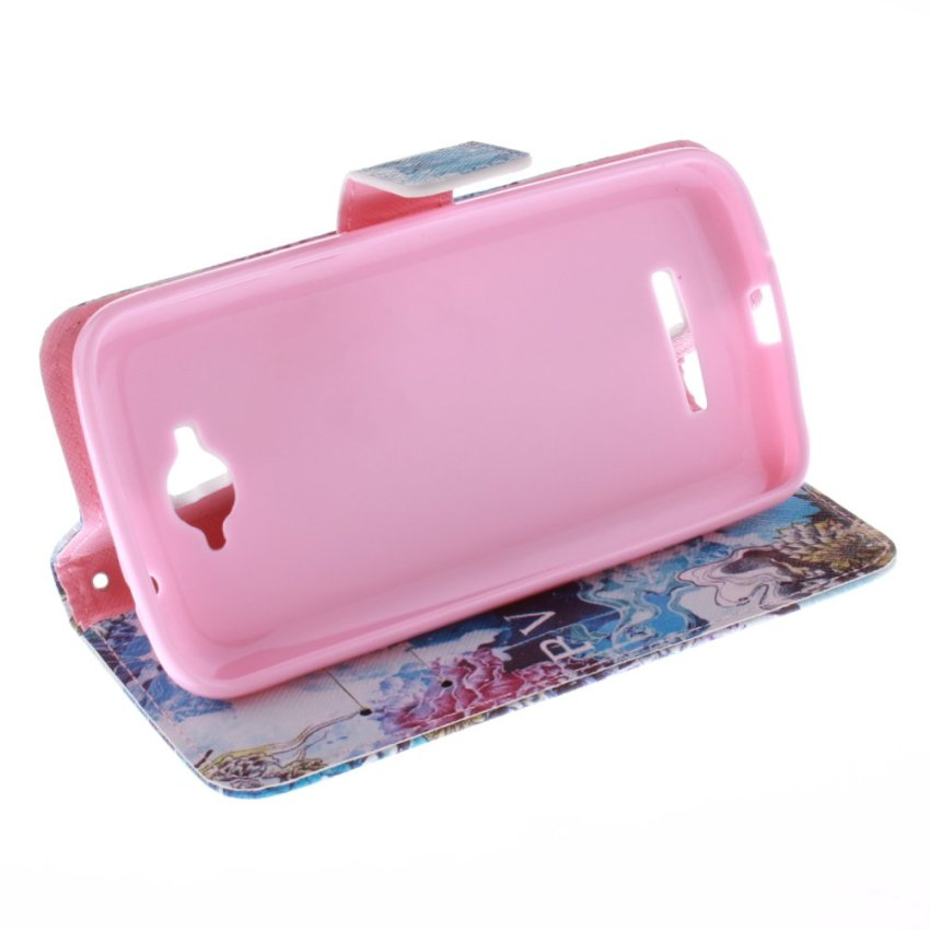 Doule Painting Filp Leather Cover for Alcatel One Touch POP C7 (Multicolor) (Intl)