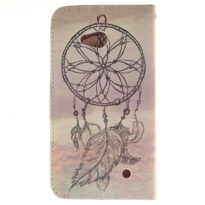 Dreamcatcher Double Painting with Flip Leather Case Built in Card Slot for Nokia Lumia 640 (Pink) (Intl)