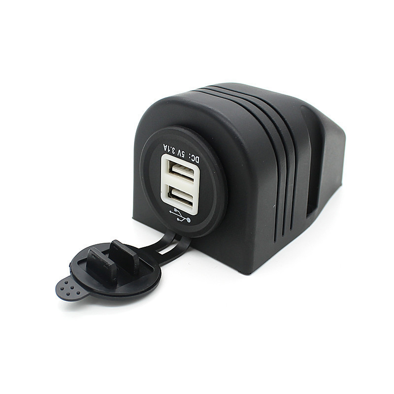 Dual Car Cigarette Lighter Socket Splitter 12V Charger USB Power Adapter (Intl)