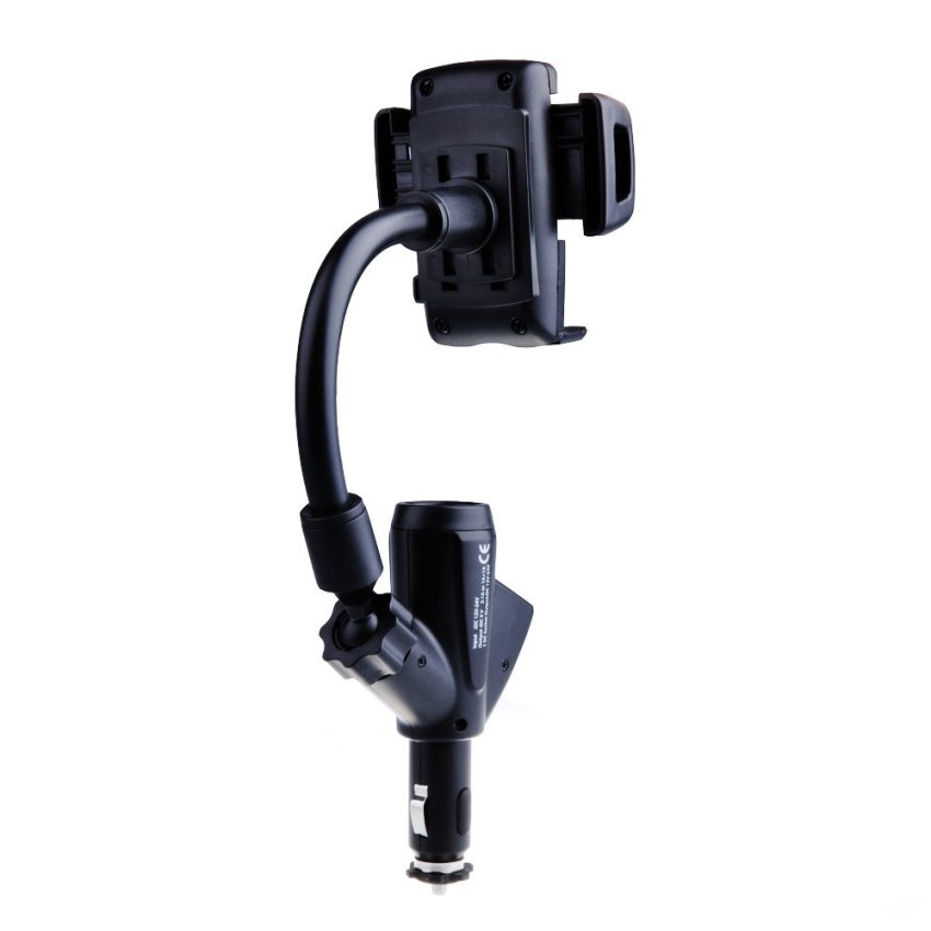 Dual USB Car Charger Phone Cradle Mount Holder Stand (Intl)