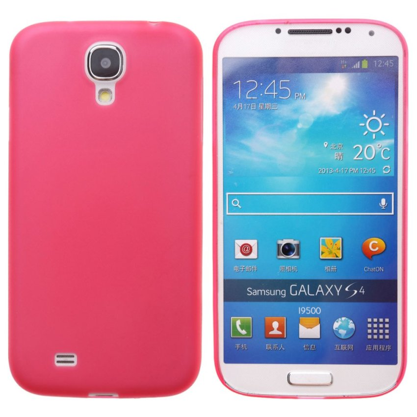 Dull Polished Back Case for Samsung Galaxy S4 i9500 (Pink)