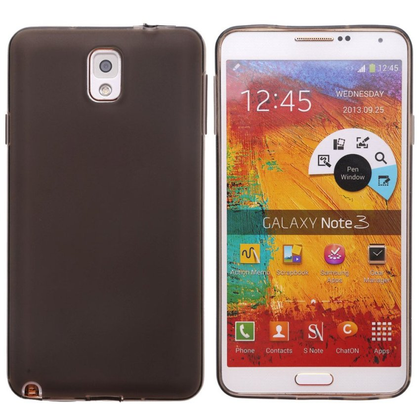 Dull Polished Back Skin Case for Samsung Note 3 (Black)