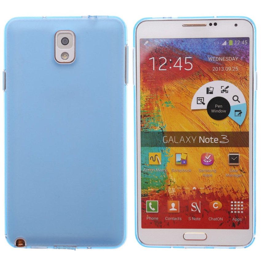 Dull Polished Back Skin Case for Samsung Note 3 N9000 (Blue)