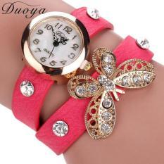 Duoya Femmes Mode Casual Bracelet En Cuir Montre-Bracelet Femmes Robe Hot Pink Free Shipping