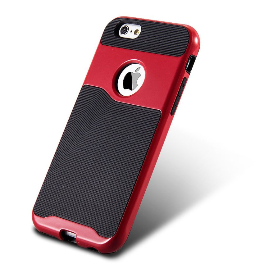 Durable Hybrid TPU+PC Case for Apple iPhone 6 6S Red/Black (Intl)