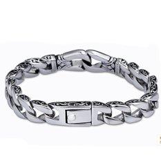 Eastop Silver Simple Unisex Good Texture Bracelet (Intl)