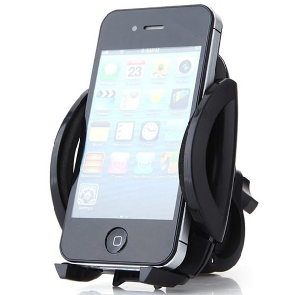 Easy One Touch Round Bike Mount for Smartphone -  Hitam