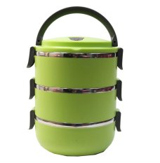 Eco Lunch Box Stainless Steel Rantang 3 Susun - Green