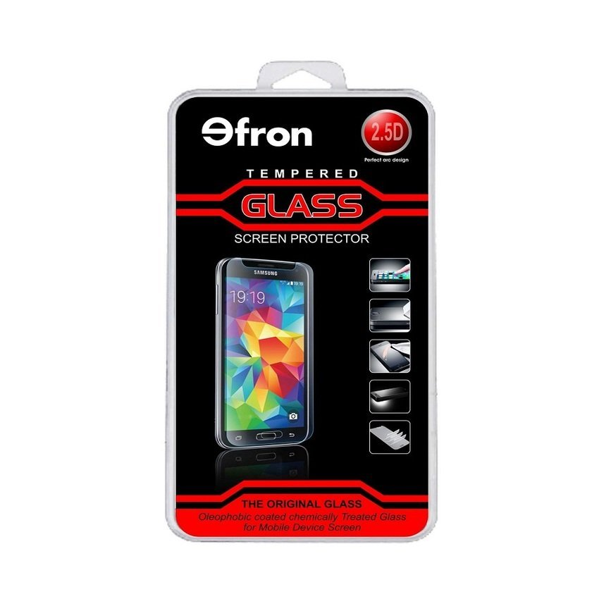 Efron Glass Iphone 5 / 5S Depan Clear - Premium Tempered Glass - Rounded Edge 2.5D