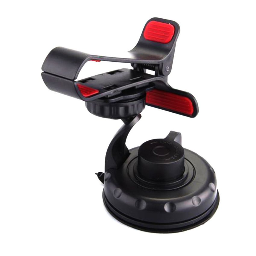 Elenxs Universal 360°Rotating Car Mount Holder Stand Bracket for Cell Mobile Phone (Black) (Intl)