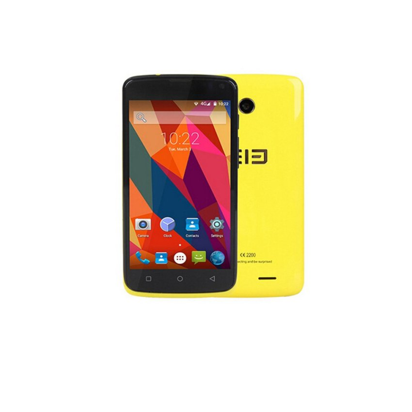 Elephone G2 Quad Core Smartphone 4.5inch 4G LTE 1GB RAM 8GB ROM 8MP Camera Android 5.0 Dual Sim (Yellow)