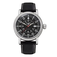 Elysee Male Watches Ilos Jam Tangan Pria - Hitam - Strap Leather Strap - 17001 (All Size)