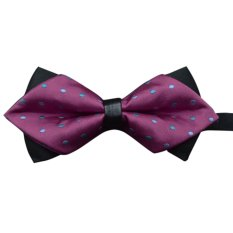 EOZY Men's Retro British Style Fashion Tuxedo Classic Butterfly Wedding Party Bowtie Bow Tie (Rose Red) (Intl)