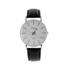 ERA Fashion Dalas Men Women Simple Stlye Big 3 Hand PU Leather Quartz Wrist Watch - Intl