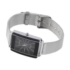 ERA Fashion Women Men PU Leather Watches Analog Quartz Movement Wrist Watch White - Intl