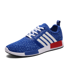 ESSAN Summer Fashion Men Women Casual Sneakers Fly Woven Flats Couple Sports Shoes (Blue) - Intl