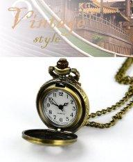 ETOP Retro Steampunk Quartz Necklace Pendant Chain Clock Pocket Watch Spider Web Hollow (Multicolor)