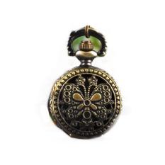 ETOP Steampunk Quartz Necklace Pendant Chain Clock Pocket Watch (Multicolor)