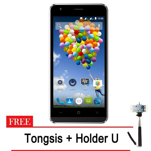 Evercoss A75A Winner Y Ultra - 16GB - Hitam + Gratis Tongsis