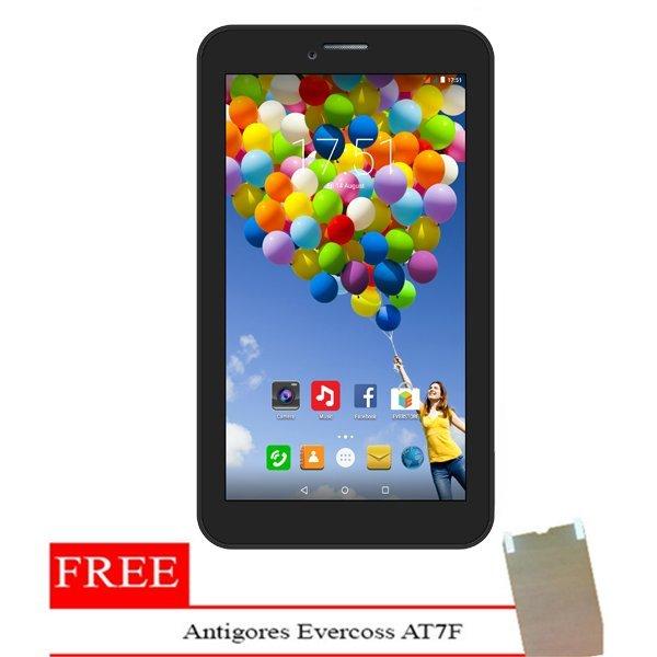 Evercoss AT7F Winner Tab S3 - 8GB - Hitam + Gratis Antigores