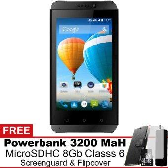 Evercoss Winner T3 4G LTE - 8 GB - Hitam Gratis Powerbank + Micro SDHC 8Gb