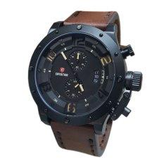 Expedition - Jam Tangan Pria - Coklat Hitam - Strap Kulit - E-1-6381PW